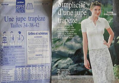 Patron Jupe Trapeze Taille 34 38 42 Creation Ernest Le Gamin Prima Ebay