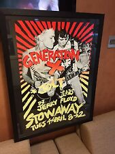 GENERATION X PROMO POSTER FOR NEWPORT GIG BILLY IDOL PUNK ROCK RARE