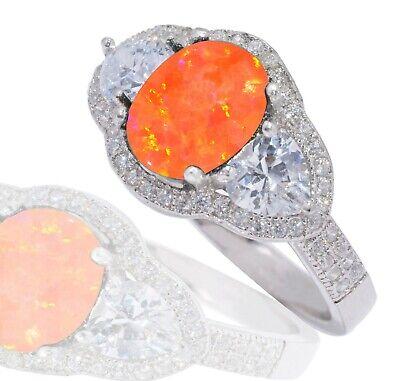 Coeurs Anneau Véritable Argent Sterling 925 Rose Clair Zircone cubique bijoux face hauteur 8 mm