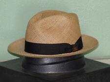 8415fd560bc73 Biltmore Havana Genuine Panama Straw Fedora Hat Grey 7 1 2