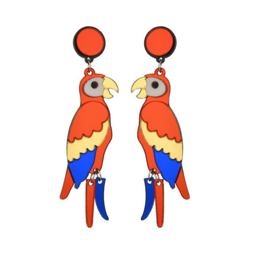 Parrot Boucle D/'oreille Longue Goutte Boucle d/'oreille Hip Hop Punk exagéré coloré fashion
