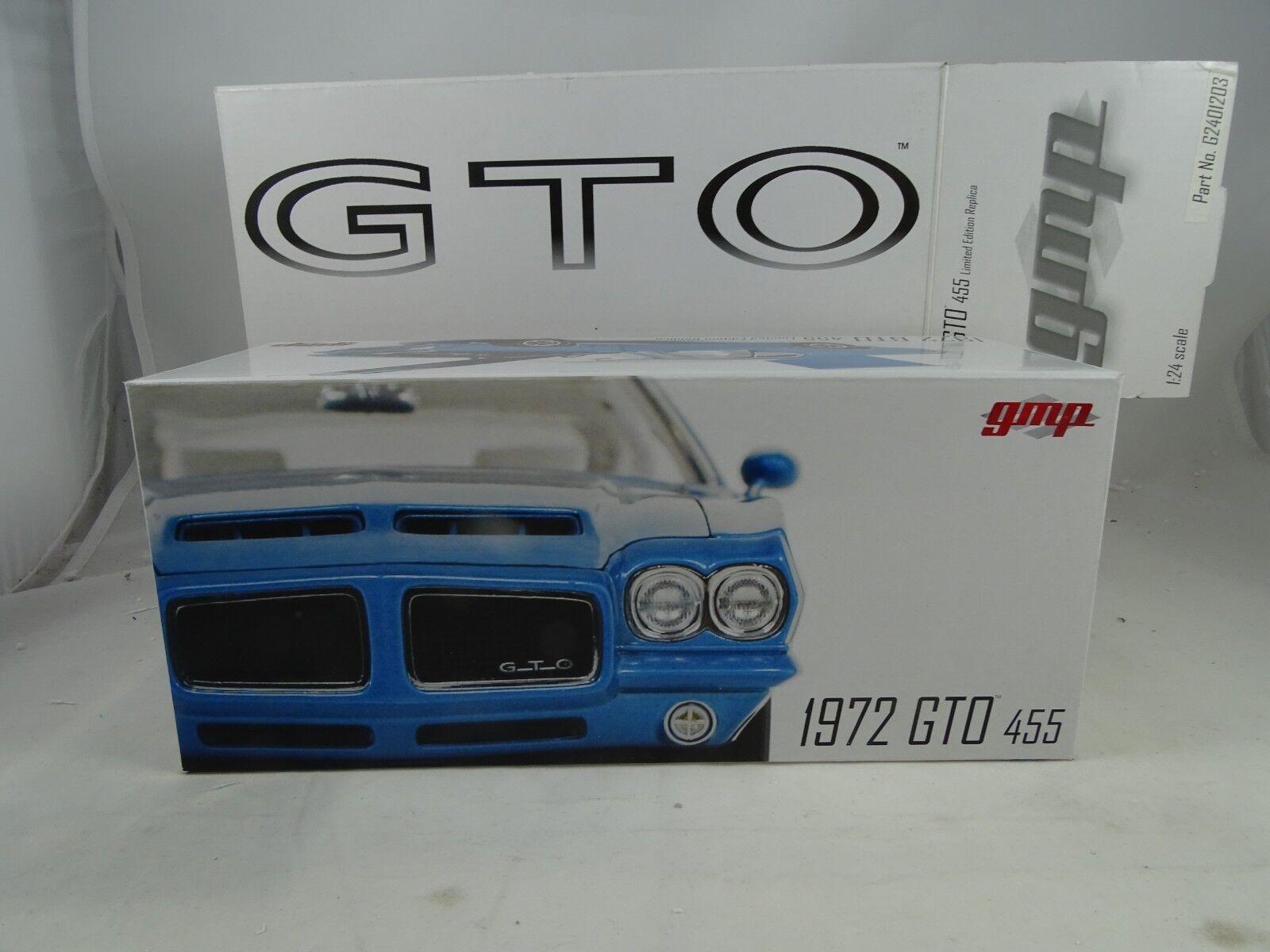 1 24 GMP  g24gto03bl - 1972 gto 455 H.O. Limited Edition azul-rareza §