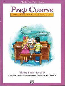 """Ensoleillé Alfred's Basic Piano Prep Course """"théorie"""" Music Book Niveau D Neuf En Promotion!-afficher Le Titre D'origine"""