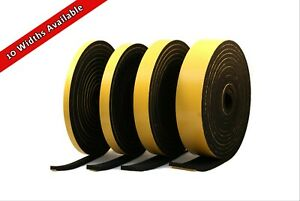 Neoprene Rubber Black Self-adhesive Sponge Strip 10mm wide x 4mm thick x 5m long