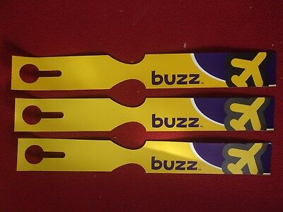 Airline Baggage Tags X 3 Buzz Airlines