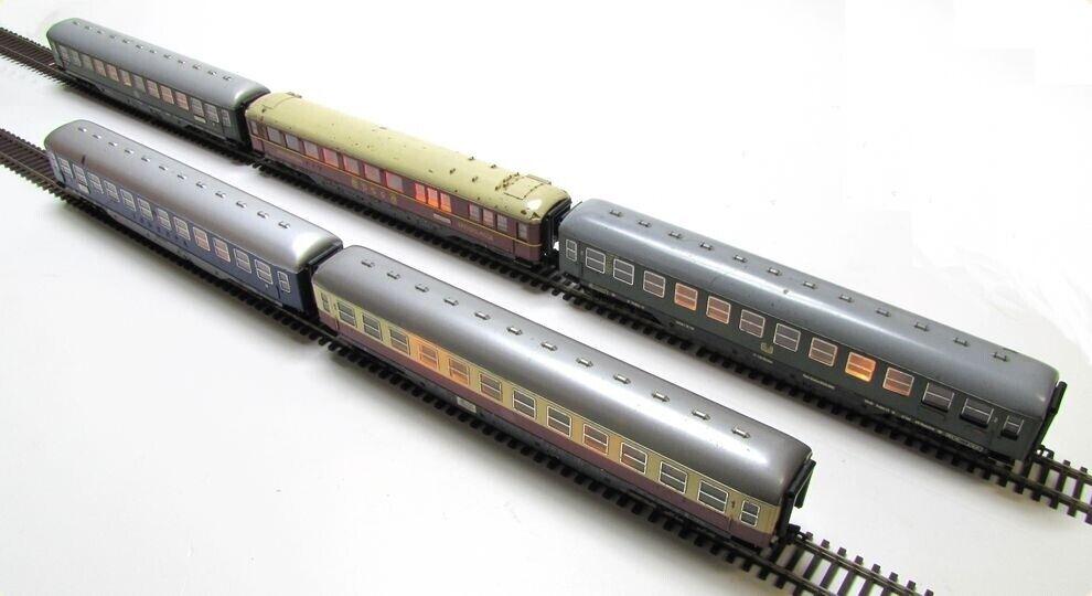 FLEISCHMANN DB 5er-Set Schnellzugwagen Epoche III beleuchtet Spur H0 1 100