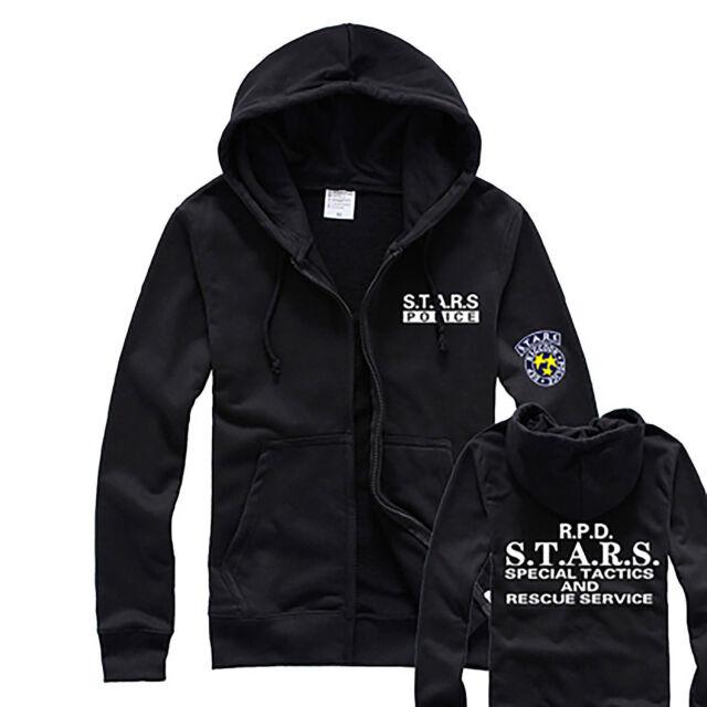 Resident Evil RPD STARS Raccoon Hoody Jacket Sweater Hoodie Cosplay Uniform