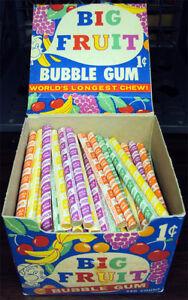 Ultra-Rare-Pre-1963-Swell-Big-Fruit-Penny-Bubble-Gum-Counter-Top-Box-w-Gum