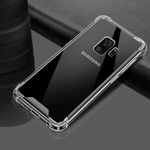 For Samsung Galaxy S9 S8 Plus Note 9 Shockproof Hybrid TPU Clear Hard Case Cover