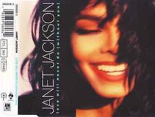 Janet Jackson: Love Will Never Do w/ Artwork MUSIC AUDIO CD Single A&M 390606-2