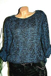 Pullover Sweatshirt Tunika Schal Übergröße Oversize Langarm Kleid 44-46-48
