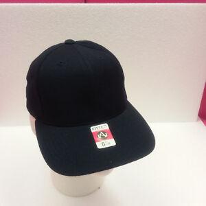 NEW VINTAGE NAVY 6 7/8 CAP HAT BY AMERICAN NEEDLE 80% ACRYLIC, 20% WOOL  (N15)