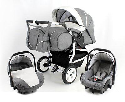 DUO STARS ADBOR DOUBLE PRAM -TWINS +2 car seats--certified to BS 5852;NEW FRAME!