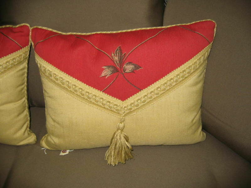 Frontgate rouge Envelope Outdoor Lumbar sofa throw tassel Pillow 20x12   129