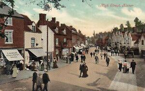 High-Street-KINVER-Staffordshire-Shops-1907-Original-Postcard-136ED