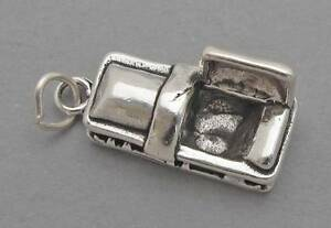 1 Pc Sterling Silver 3D Halloween Funeral Movable Coffin Charm