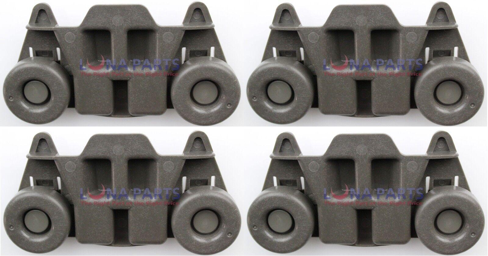 4 Packs W10195416 UPGRADED Dishwasher Wheels Lower Rack W10195416V For Kitche.