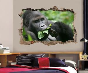 GORILLA MONKEY ANIMAL ANGRY EMOTION Wall Sticker Vinyl Decal Mural Poster