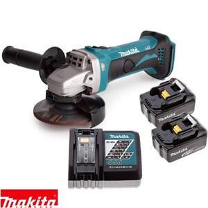 makita dga452z 18v 115mm lxt angle grinder with 2 x 4ah. Black Bedroom Furniture Sets. Home Design Ideas