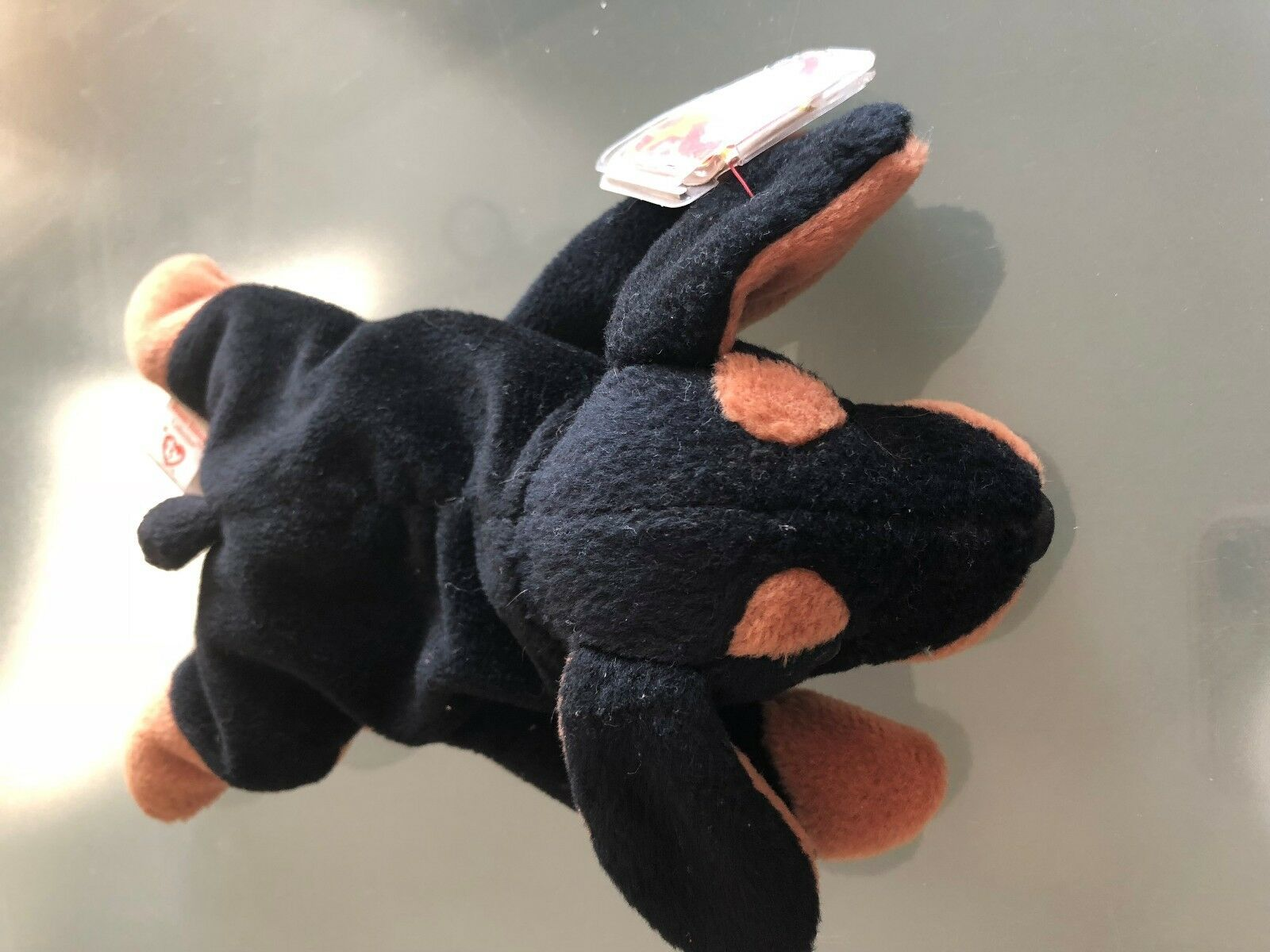 Ty Beanie Baby Retired, Rare with Errors Doby the Doberman (preowned)