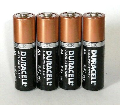 4 duracell aa coppertop duralock 15v alkaline battery made in usa