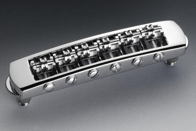 Chrome 12080200 Genuine Schaller Germany STM Roller Tunematic Bridge