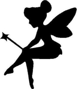 Fairy Silhouette With Wand Vinyl Decal Sticker Car Truck