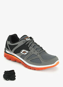 Skechers Air Brand Grey Mens Sports Running Shoes 51471 Memory Foam