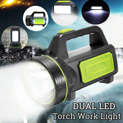 Dual LED Candle Power Work Light Torch Candle Spotlight Hand Lamp RechargeableBR