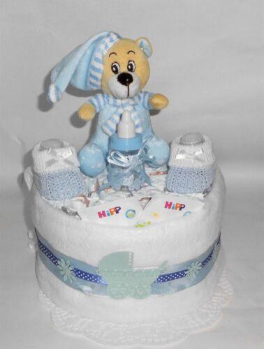 Windelgeschenk zur Geburt Junge Windeltorte Taufe Baby Mitbringsel