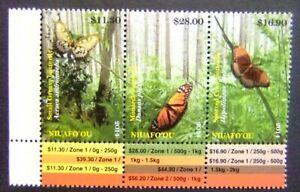 Niuafo'ou Tonga 2014 butterflies insects set MNH