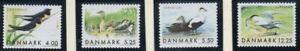 Denmark Sc 1163-66 1999 Migratory Birds stamp set mint NH