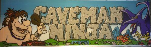 """Caveman Ninja Arcade Marquee 26/"""" x 8/"""""""