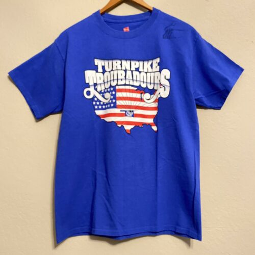 Turnpike Troubadours Mens Medium M T-Shirt Blue Si