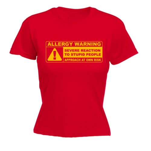 Allergy Warning Stupid People Funny Offensive Joke Humour FITTED T-SHIRT Cool