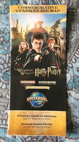 Universal Studios Harry Potter Diagon Alley OPENING DAY COMMEMORATIVE Park Map