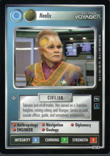 STAR TREK CCG VOYAGER RARE CARD NEELIX federation