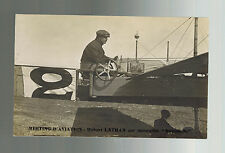 1910 Nice France Early airmail Postcard cover Local Issue Air Stamp Aviation