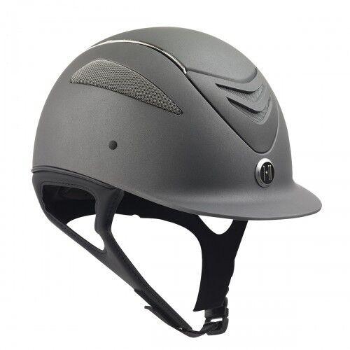 One K Defender Chome Stripe Helmet in Grey Matte