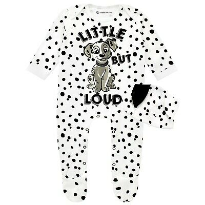 Baby Disney 101 Dalmatians Sleepsuit /& Hat SetBaby Dalmatian Babygrow and Hat