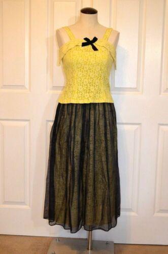 Vtg Greta Plattry Skirt and Sleeveless Top Chiffon