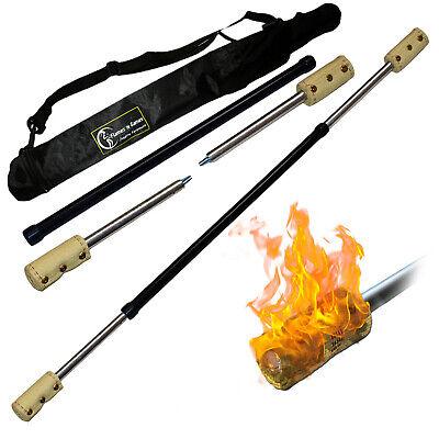 Travel Bag Fyrefli 3 piece Travel Fire Staff 140cm 2x100mm wicks