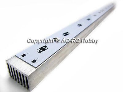 600mm 12 Spots Aluminum PCB LED Strip w/ Heat Sink