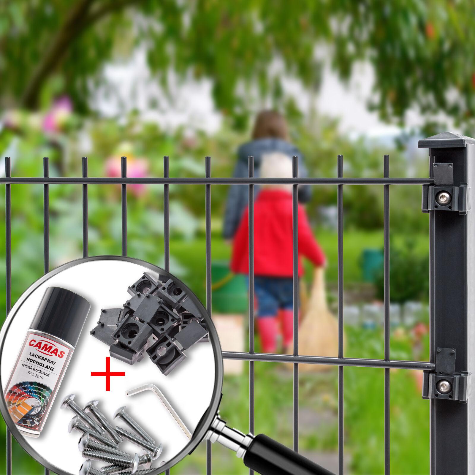 1,03m Doppelstabmatten Zaun Gartenzaun Camas Zäune Gittermatten 20m Angebots SET