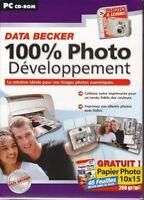 100% Photo Développement - Pc Cd-rom - Neuf -