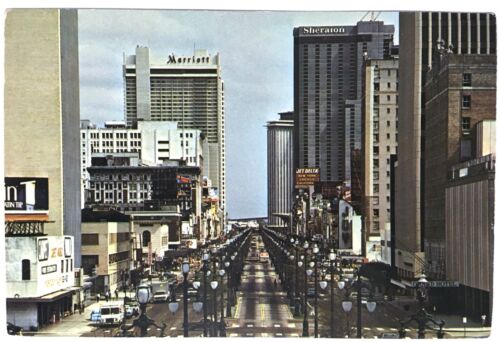 Vintage 1970s Postcard Canal Street New Orleans Post Card #B4Q