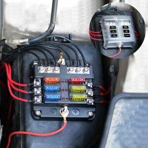 Hoja-de-6-Vias-Caja-de-Fusible-amp-Kit-De-Coche-Barra-De-Bus-Marina-Fusebox-titular-12V-32V-con