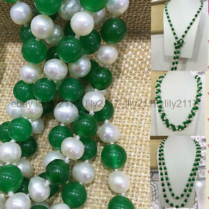 36-039-039-Charming-Natural-7-8MM-White-Cultivation-Pearl-Green-Jade-Gems-Necklace