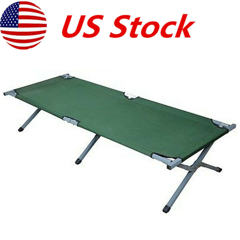 Foldable Camping Hiking Military Portable Bed  Cot w  Carrying Bag Army Green US  quality product