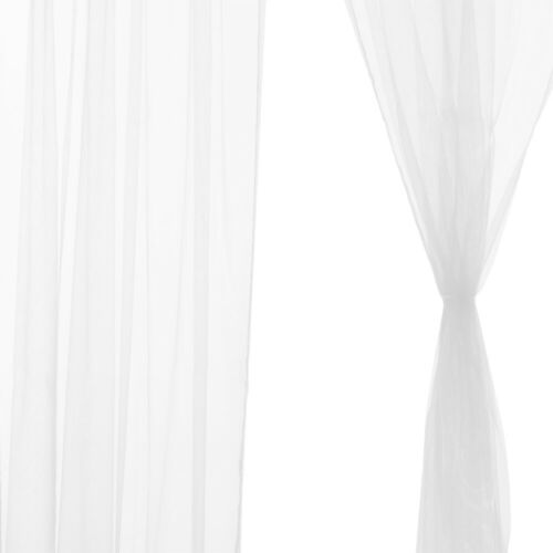 Voile Kitchen Pure Color Window Curtain Solid Sheer Curtain Tulle Window Screen